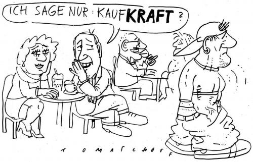 Cartoon: Kaufkraft (medium) by Jan Tomaschoff tagged kaufkraft,konsum,preise