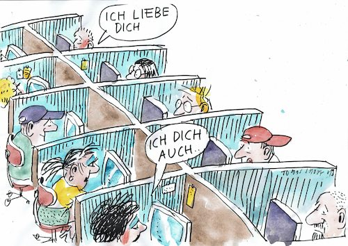 Cartoon: Liebe (medium) by Jan Tomaschoff tagged liebe,job,vereinsamung,liebe,job,vereinsamung