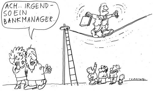 Cartoon: Manager (medium) by Jan Tomaschoff tagged banken,finanzen,krise,