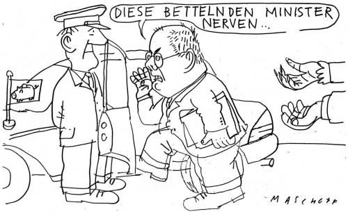 Cartoon: Minister (medium) by Jan Tomaschoff tagged diäten,ministergeälter,