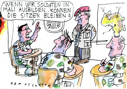 Cartoon: no (medium) by Jan Tomaschoff tagged mali,bundeswehr,mali,bundeswehr