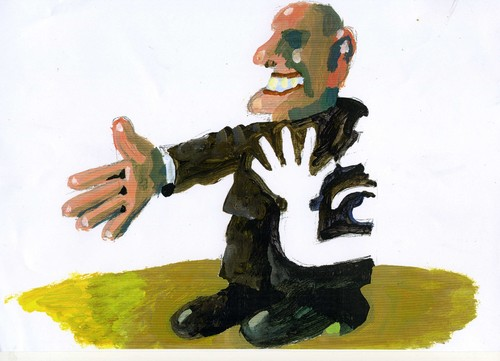 Cartoon: Politiker (medium) by Jan Tomaschoff tagged hand,politik,politiker,politiker,politik,hand
