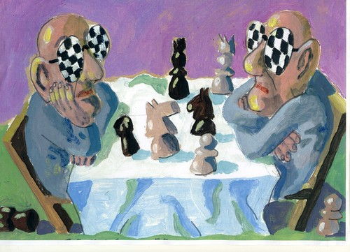 Cartoon: Schach (medium) by Jan Tomaschoff tagged schach,schach