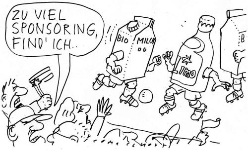 Cartoon: Sponsoring (medium) by Jan Tomaschoff tagged sponsoring,sport,business,