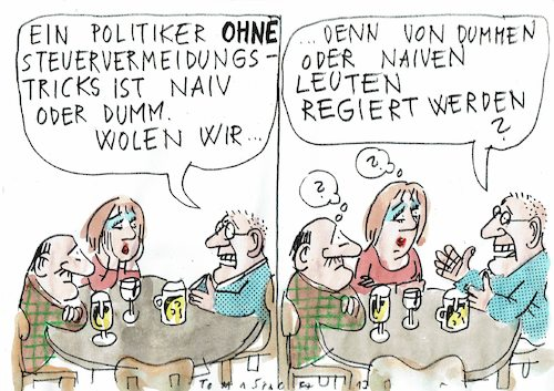 Cartoon: Steuertricks (medium) by Jan Tomaschoff tagged korruption,politiker,korruption,politiker