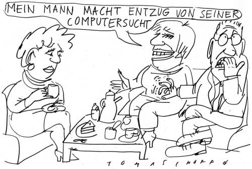 Cartoon: Sucht (medium) by Jan Tomaschoff tagged computersucht