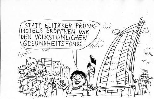 Cartoon: Ulla (medium) by Jan Tomaschoff tagged gesundheitsfonds,
