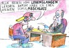 Cartoon: Lernen (small) by Jan Tomaschoff tagged bildung