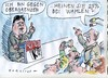 Cartoon: Obergrenze (small) by Jan Tomaschoff tagged migration,spd,obergrenze
