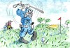 Cartoon: police (small) by Jan Tomaschoff tagged sport,golf