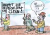 Cartoon: Puristen (small) by Jan Tomaschoff tagged sprache,nationalismus