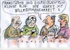 Cartoon: Transitzonen (small) by Jan Tomaschoff tagged migration,asyl