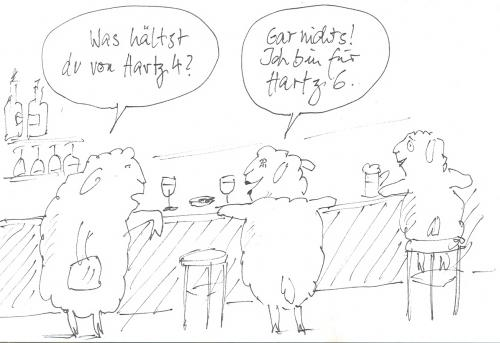 Cartoon: Hartz 4 (medium) by nele andresen tagged schafes,leben