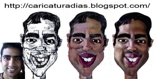 Cartoon: Caricatura freela (medium) by MRDias tagged caricature,cartoon