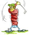 Cartoon: Croocked golfplayer (small) by FART tagged golf