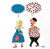 Cartoon: conversation (small) by draganm tagged woman,conversation,fashion