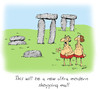 Cartoon: stonehenge (small) by draganm tagged stonehenge shopping mall stone age