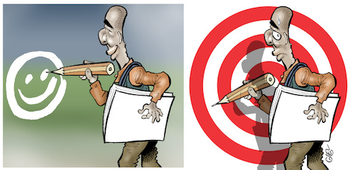 Cartoon: cartoonist target (medium) by Damien Glez tagged cartoonist,target,designer,media,press,cartoonist,target,designer,media,press