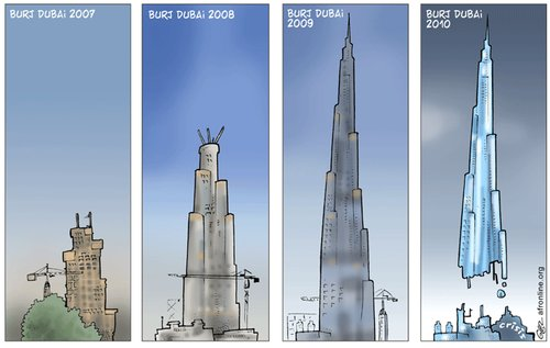 Cartoon: Dubai (medium) by Damien Glez tagged dubai
