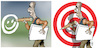 Cartoon: cartoonist target (small) by Damien Glez tagged cartoonist,target,designer,media,press