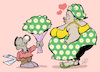 Cartoon: Love and flowers (small) by Damien Glez tagged love,flowers,couple,woman,man,seduction