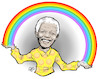 Cartoon: Nelson Mandela (small) by Damien Glez tagged nelson,mandela,south,africa,apartheid