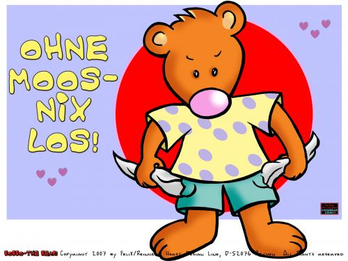 Cartoon: Bobbo the Bear-Bobbo der Bär (medium) by FeliXfromAC tagged bobbo,the,bear,bär,tiere,stockart,animals,pleite,cartoon,comic,comix,felix,alias,reinhard,horst,greeting,card,glückwunschkarte,liebe,character,design,mascot,sympathiefigur,beziehung,glück,luck,greetings