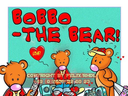 Cartoon: Bobbo the Bear-Bobbo der Bär (medium) by FeliXfromAC tagged bobbo,the,bear,bär,tiere,animals,pleite,cartoon,comic,comix,felix,alias,reinhard,horst,greeting,card,glückwunschkarte,liebe,character,design,mascot,sympathiefigur,beziehung,glück,luck,greetings,