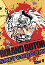 Cartoon: Cartoon Sketchbook Cover (small) by FeliXfromAC tagged design,line,aachen,illustration,illustrator,comic,zeichner,comiczeichner,sympathie,figuren,mascot,cartoon,character,humor,horror,rennfahrer,neusite,cooles,cool,avatar,maler,artist,skizzenbuch,cover,sketchbook,motorsport,smoke,rauchen,clown,mann,roland,bot