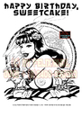 Cartoon: The FeliX Pin Up Girls! (small) by FeliXfromAC tagged up pin felix the girls pinup art poster aachen nrw germany erotic erotik felixfromac crazy gun zeichner comiczeichner comic illustration line bw sw waerten waiting south of border 50th mexico call telfon anruf sexy girl peppita frazzetta illustrator coolb