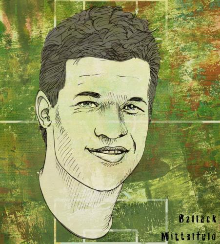 Cartoon: ballack (medium) by illustrita tagged man,mann,portrait,celebrity,prominenter,sports,football,fussball,em08