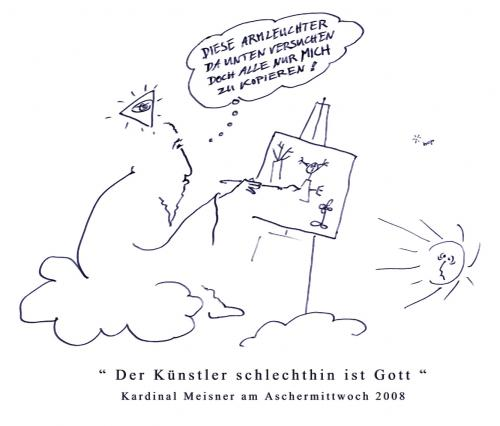 Cartoon: OBERKUENSTLER (medium) by Bop Tag tagged kunst,künstler,gott,kirche,religion,kultur,