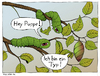 Cartoon: Running gag unter Raupen (small) by Magnoli tagged raupe,wald,puppe,baum,typ