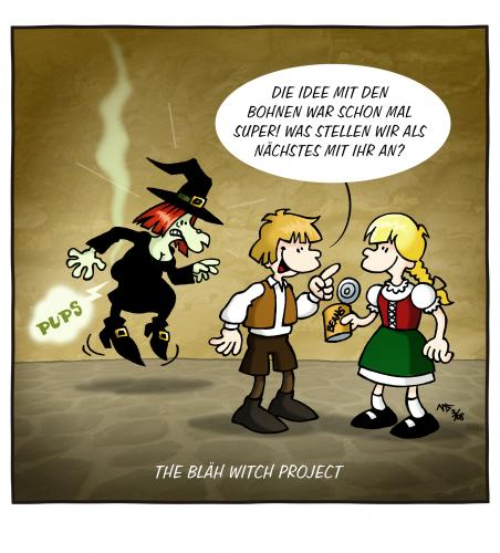 Cartoon: The Bläh Witch Project (medium) by volkertoons tagged cartoons,volkertoons,märchen,fairy,tales,hänsel,und,gretel,hexe,blair,witch,project,bohnen,beans,furz,furzen,pups,pupsen,fart,film,kino,movie,parodie,persiflage,blair witch project,hexe,magie,zauber,kinofilm,kino,film,grusel,horror,horrorfilm,gretel,hänsel,hänsel und gretel,märchen,furzen,pups,pupsen,parodie,unterhaltung,blähung,körper,bohnen,ernährung,essen,blair,witch,project,und