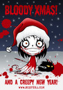 Cartoon: Bloody Xmas (small) by volkertoons tagged volkertoons,nosfera,vampir,vampire,vicious,vampiress,böse,vampöse,bad,evil,süß,sweet,cute,nadel,needle,mädchen,girl,winter,schnee,snow,blut,blood,snowblood,nacht,night,goth,gothic,weihnachten,christmas,xmas,silvester,sylvester,neujahr,neues,jahr,new,year,