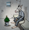 Cartoon: BODO Magazin - W-nacht im Knast (small) by volkertoons tagged volkertoons,cartoon,illustration,bodo,ratte,rat,knast,gefängnis,zelle,prison,weihnachten,christmas,xmas