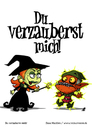 Cartoon: Du verzauberst mich! (small) by volkertoons tagged volkertoons cartoon comic karte grußkarte greeting card hexe witch gnom goblin zauberei sorcery hexerei witchcraft verzaubern bewitch lustig spaß humor fun funny