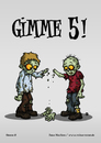 Cartoon: Gimme 5! (small) by volkertoons tagged volkertoons cartoon zombies untote undead humor lustig spaß fun funny grußkarte postkarte karte greeting card