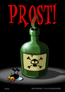 Cartoon: Prost! (small) by volkertoons tagged volkertoons cartoon comic karte grußkarte postkarte gereeting card fliege flie gift poison prost cheers lustig humor spaß fun funny
