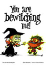 Cartoon: You are bewitching me! (small) by volkertoons tagged volkertoons cartoon comic karte grußkarte greeting card hexe witch gnom goblin zauberei sorcery hexerei witchcraft verzaubern bewitch lustig spaß humor fun funny
