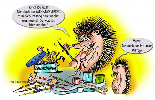 Cartoon: Igeleien (medium) by cartoonist_egon tagged mikado,