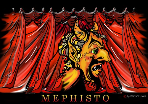 Cartoon: Mephisto (medium) by cartoonist_egon tagged mephisto,faust