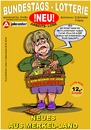 Cartoon: Bundestags-Lotterie (small) by cartoonist_egon tagged amt,arge,merkel,politik,soziales