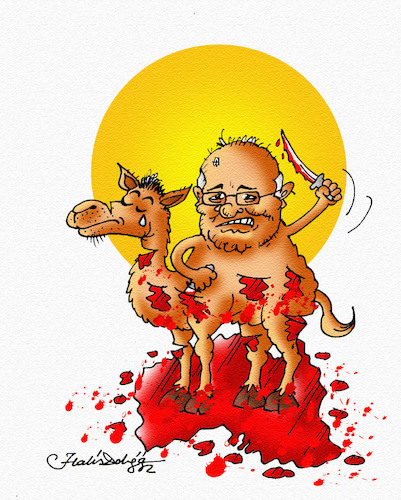 Cartoon: Scott Morrison (medium) by halisdokgoz tagged scott,morrison,the,killing,of,camels,australia