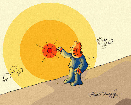 Cartoon: SUN (medium) by halisdokgoz tagged sun