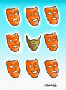 Cartoon: Mask (small) by halisdokgoz tagged mask,dokgoz,cartoon