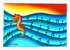 Cartoon: Seahorse music (small) by halisdokgoz tagged seahorse,music,dokgoz