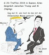 Cartoon: G 20- Treffen 2018 (small) by quadenulle tagged trump,mauer,chinesiche,xi,jinpings,20,buenos,aires,2018,mexico,immigration