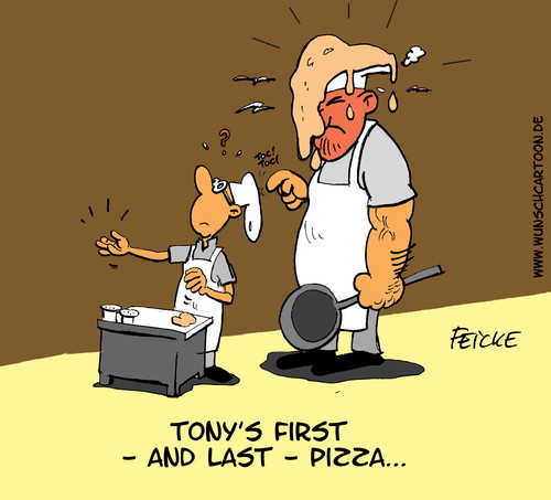 Cartoon: Tonys first pizza (medium) by Wunschcartoon tagged pizza,pizzapitch,essen,italy,eating,dinner,restaurant