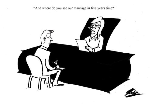 Cartoon: Life Partner Review (medium) by pinkhalf tagged man,woman,relationship,marriage